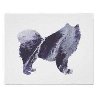 Samoyed art poster