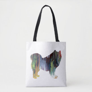 Samoyed art tote bag