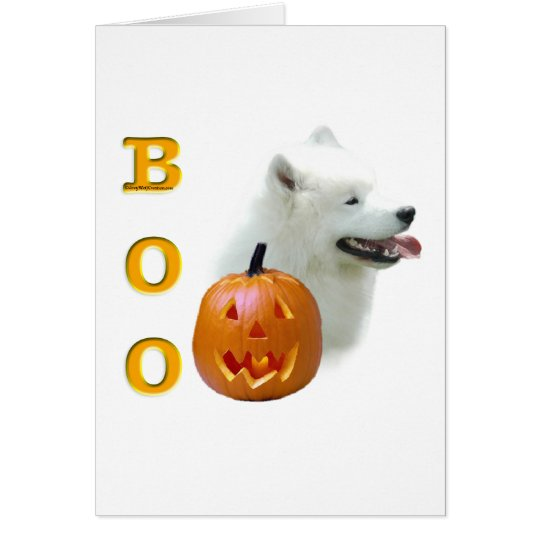 Samoyed Boo Card