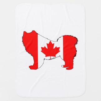 Samoyed Canada Baby Blanket