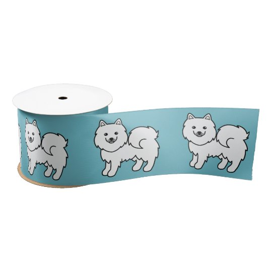 Samoyed Cartoon Dog Satin Ribbon