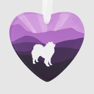 Samoyed Ceramic Heart Ornament; Choice of Shapes Ornament