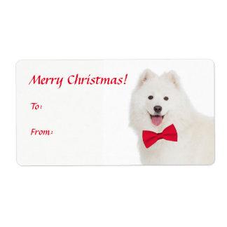 Samoyed Christmas Gift Stickers