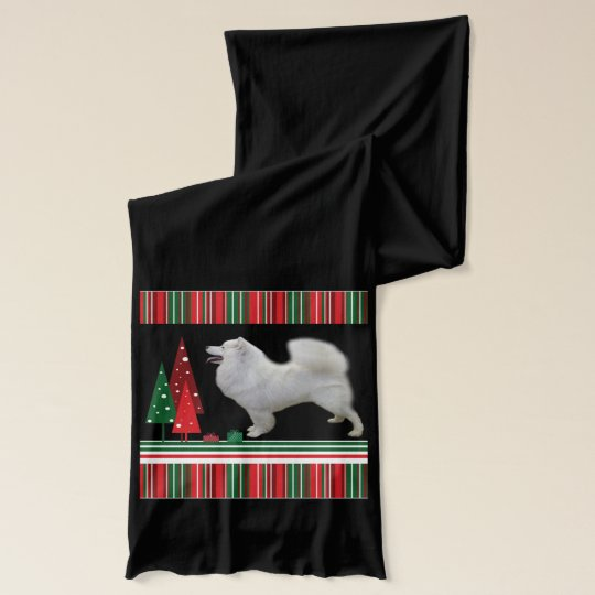 Samoyed Christmas Scarf