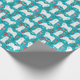 Samoyed Christmas wrapping paper