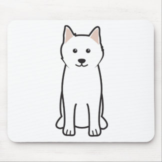 Samoyed Dog Cartoon Mouse Pad
