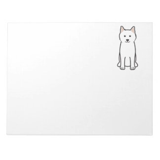 Samoyed Dog Cartoon Notepad
