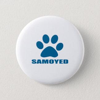 SAMOYED DOG DESIGNS 2 INCH ROUND BUTTON