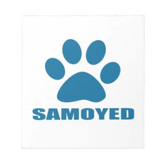 SAMOYED DOG DESIGNS NOTEPAD