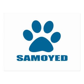 SAMOYED DOG DESIGNS POSTCARD