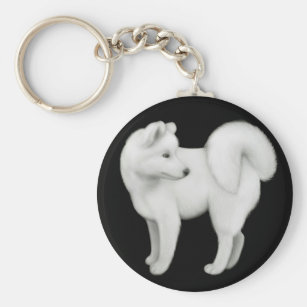 Samoyed Dog Keychain