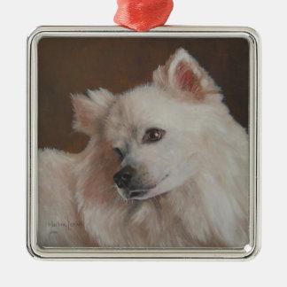 Samoyed Dog Painting Christmas Ornament