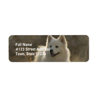 Samoyed Dog Return Address Label