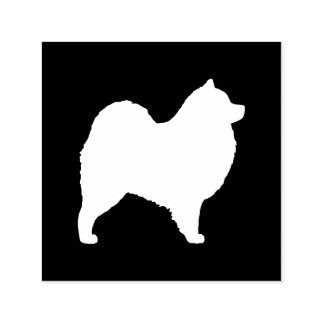 Samoyed Dog Silhouette Self-inking Stamp