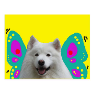 Samoyed Fairy Dogmother Postcard