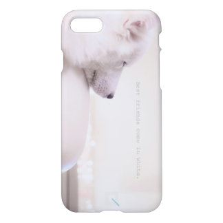 "Samoyed ""Friends come in white."" by Qunamax iPhone 8/7 Case"