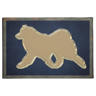 "Samoyed  Gold 24""x36"" Exquisite Doorway Entry Mat"