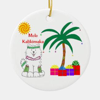 Samoyed Hawaiian Ornament