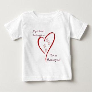 Samoyed Heart Belongs Baby T-Shirt