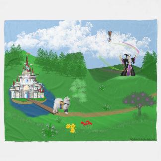 Samoyed in King Arthur's Avalon; Seeking Grail Fleece Blanket