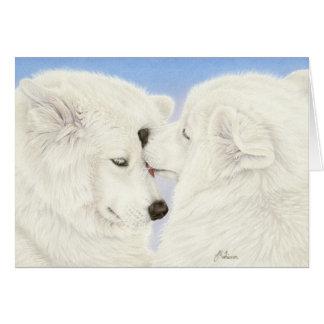 Samoyed Love Greeting Card