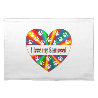 Samoyed Love Placemat