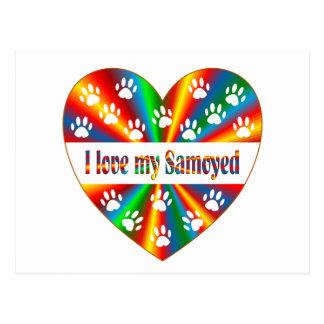 Samoyed Love Postcard