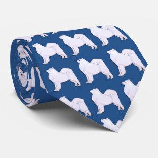Samoyed Neck Tie Meium Blue