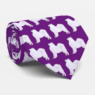 Samoyed Neck Tie Royal Purple