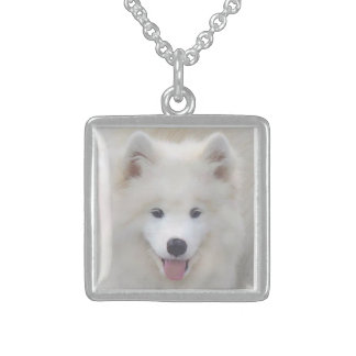Samoyed Necklace Small, Sterling Silver