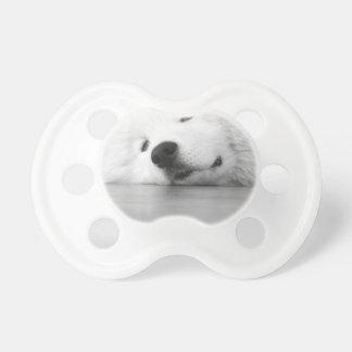 Samoyed Photo Dog White Baby Pacifier