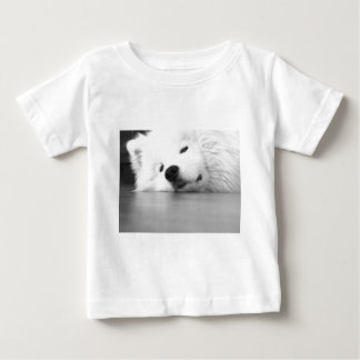 Samoyed Photo Dog White Baby T-Shirt