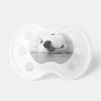 Samoyed Photo Dog White Pacifier