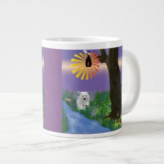 Samoyed Pup Enchanted Forest--Jumbo Mug