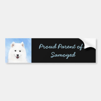 Samoyed Puppy Bumper Sticker