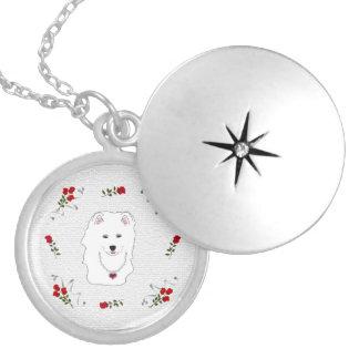 Samoyed Puppy Princess Necklace Locket.
