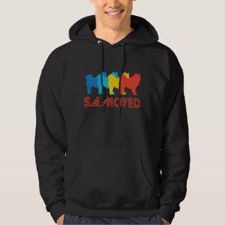 Samoyed Retro Pop Art Hoodie