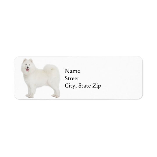 Samoyed Return Address Label