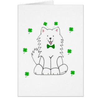 Samoyed Saint Patricks Day Card