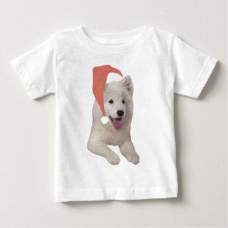 Samoyed Santa Hat Baby T-Shirt