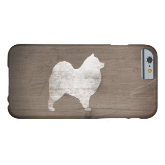 Samoyed Silhouette Rustic Barely There iPhone 6 Case