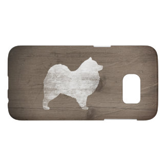 Samoyed Silhouette Rustic Samsung Galaxy S7 Case