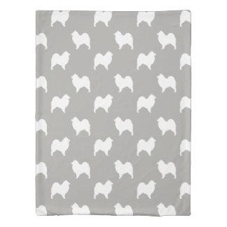 Samoyed Silhouettes Pattern Duvet Cover
