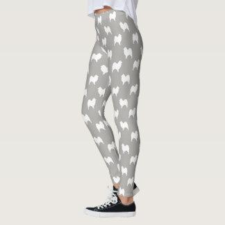 Samoyed Silhouettes Pattern Leggings