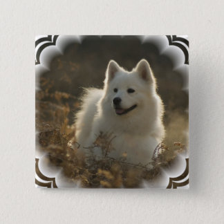 Samoyed Square Pin