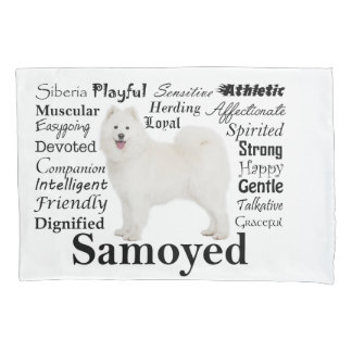 Samoyed Traits Pillow Case Pillowcase