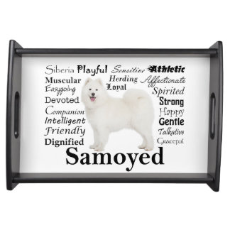 Samoyed Traits Serving Tray