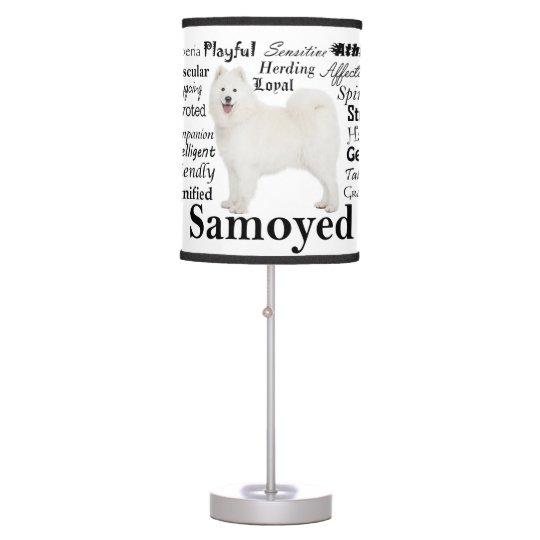 Samoyed Traits Table Lamp