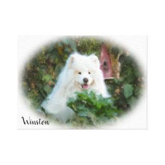 """Samoyed Wrapped Canvas  (18.00"""" x 12.00""""), 1.5"""""""