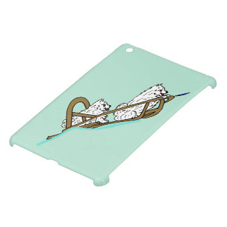 Samoyeds in Sled Cover For The iPad Mini